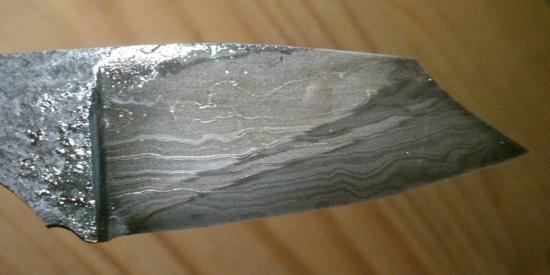 Détail lame feuilletée 112 couche avec trempe sélective